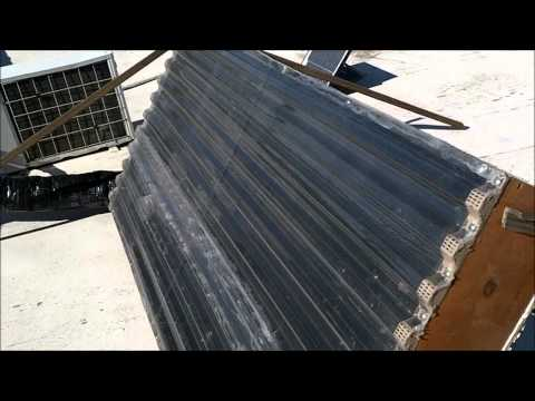 Solar Space Heater Homemade Out 53 degrees In 95 degrees