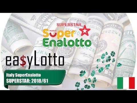Lotto SUPERSTAR Superenalotto 22 May 2018