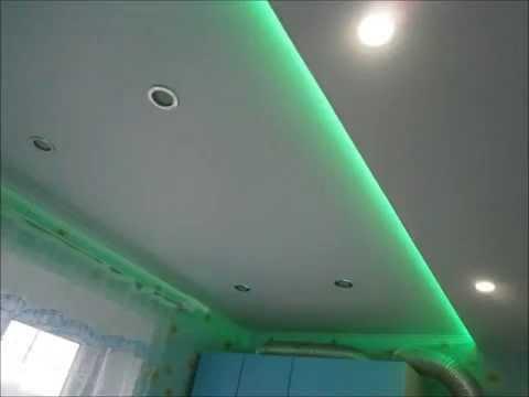 Потолок из сэндвич панелей ПВХ на кухне ( фото )