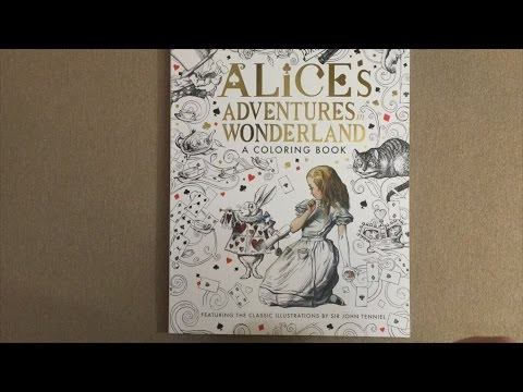 Alice\'s Adventures in Wonderland: A Coloring Book flip through - YouTube
