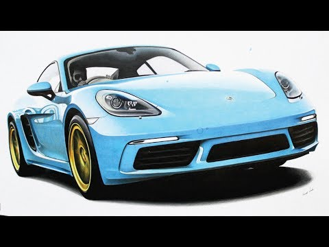 Porsche 718 Cayman Drawing