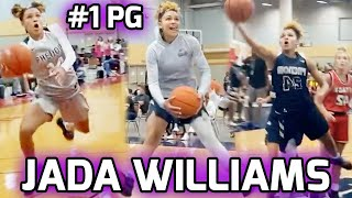 #1 PG In 2023 Jada Williams Tears Up NIKE TOURNAMENT OF CHAMPIONS! Leads Squad To 17-4 RECORD 🔥