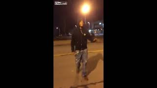 Club bouncer retaliates after getting punched by feisty drunk lady
