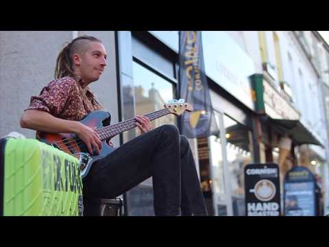 """Dr Funk """"Drop D"""" Marcus Miller Inspired 🎸Amazing Bass from the Street Sessions Performance 📍Newquay"""