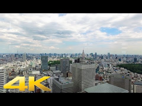 Shinjuku station to Tokyo Metropolitan Government Building on foot - Long Take【東京・新宿駅/都庁】 4K
