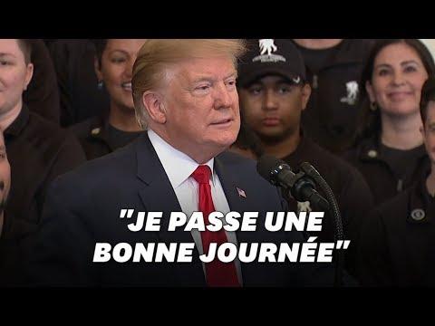 Donald Trump jubile après la publication du rapport Mueller