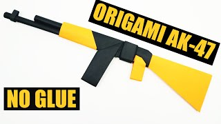 EASY Origami AK 47 witнout glue. Paper AK 47