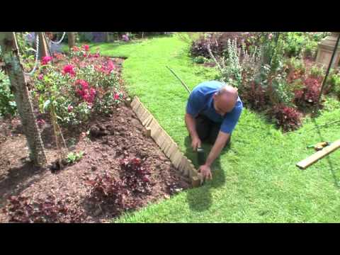 How to install log roll edging | Forest Garden & Howarth ...