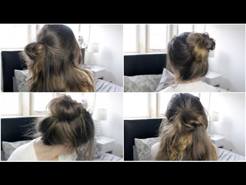 Three Easy Messy Quick Hairstyles - YouTube