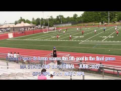 Fabi scores 5th goal on the 2017 Massachusetts State Cup Finals