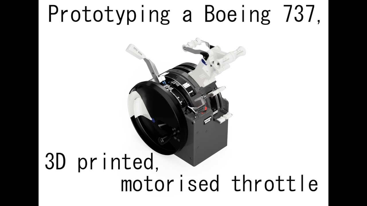 Check out the new prototyping video of the 737 motorised throttle build