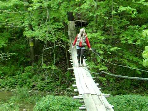 rope bridge at kish creek - youtube