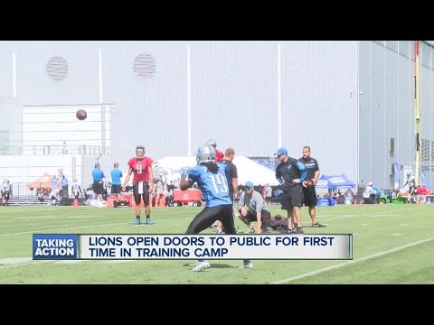 Fans get to see Lions training camp