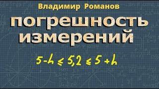 алгебра ПОГРЕШНОСТЬ ИЗМЕРЕНИЙ