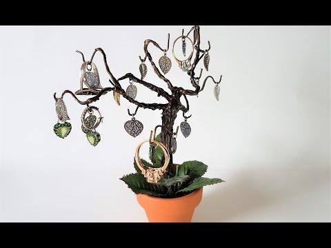 DIY Fantasy Wire Tree Jewelry Hanger ♥