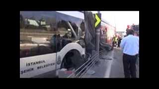 Topkapı'da metrobüs kazası