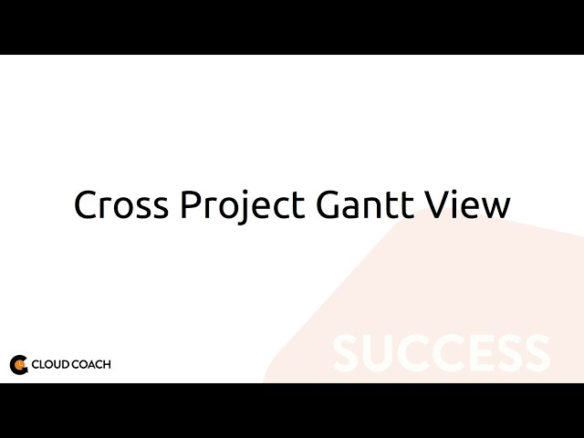 Cross Project Gantt View