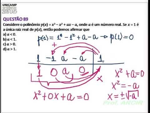 UNICAMP 2015 Equação do 3 grau   Complexos   Briot&Ruffini  Exerc 89