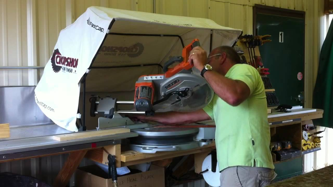 Chopshop Saw Hood On Compound Miter Saw Youtube