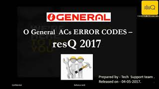 Ac Error Code List Pdf