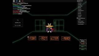 ASGORE 3D FIGHT ON UNDERTALE ROBLOX!!!