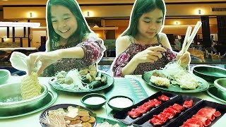 HOT POT SHABU ZONE [No Talking] MUKBANG   Tran Twins