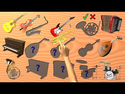 Musical Instruments Game Wrong or Right Wooden slots | Learn Names | Puzzle for Kids