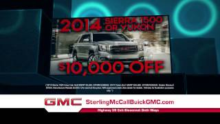 It's the Sterling McCall Buick GMC 2014 Clearance Event!