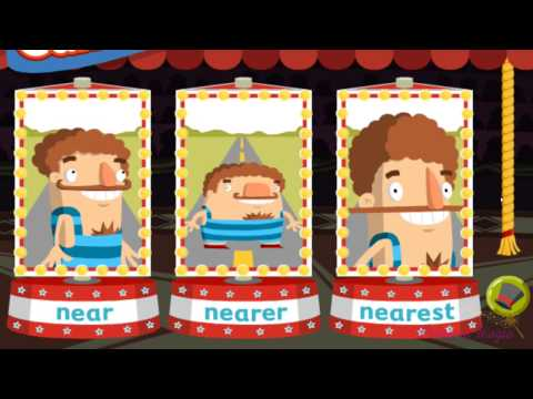 Between The Lions The Best Trampolini Learning Adjectives Game For Kids English