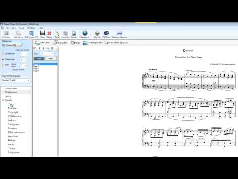 PDF sheet music import to Power Music Professional