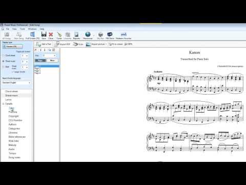 PDF sheet music import to Power Music Professional