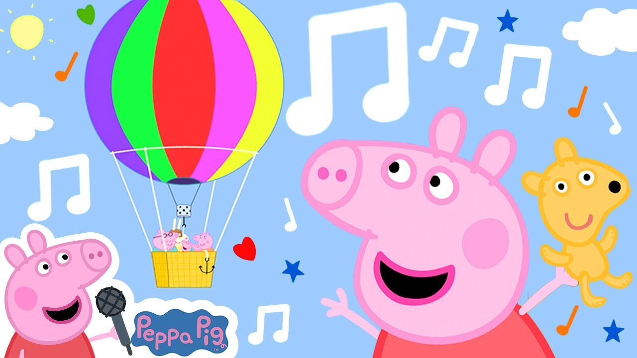Peppa Pig Official Channel | The Birthday Balloon Ride | Songs for Kids