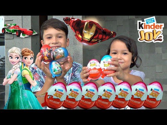 Hunting Surprise Eggs!! Beli KINDER JOY, Frozen, Avengers