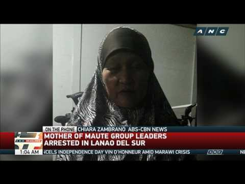 WATCH: Mother of Maute leaders arrested in Lanao del Sur