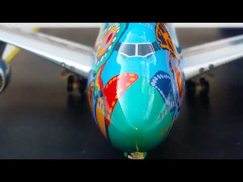 JC Wings 200 Vintage Qantas B747-300(Nalanji Dreaming Livery)Review