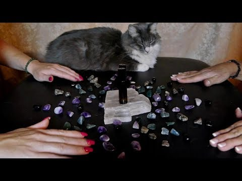 ASMR Crystal Grid and Essential Oils with WhispersRed ASMR 💜