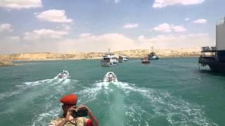 قناة السويس الجديدة : شاهد أنبهار وزير الدولة الاماراتى سلطان الجابر بما شاهده