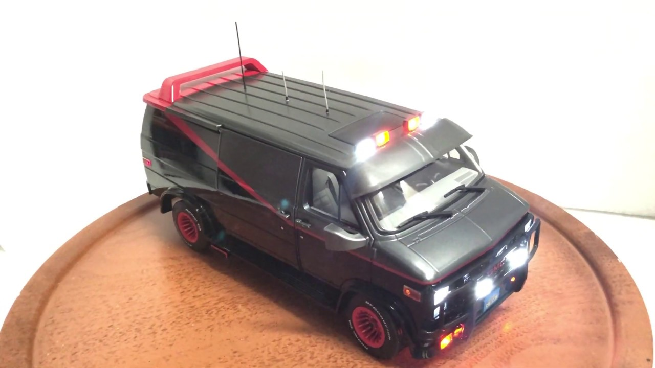 Greenlight 1/18 A-Team Van with Lights and Sound Custom Built offered for  sale on Ebay