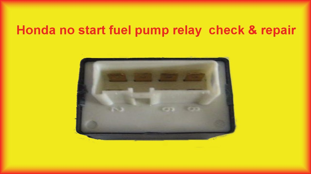 hight resolution of honda accord no start fuel pump relay repair