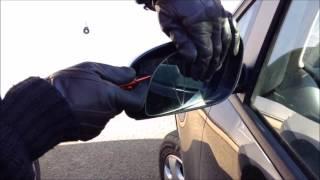 Comment changer une glace chauffante miroir de rétroviseur extérieur électrique d'un véhicule auto ?