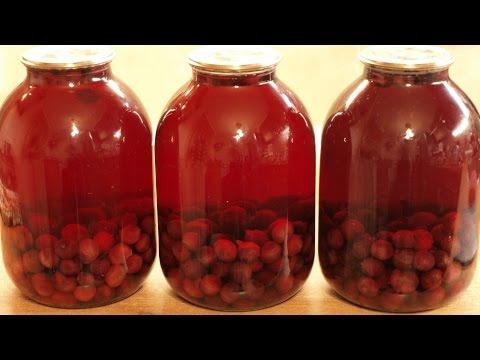 Вишнёвый компот / How To Make Cherry Kompot (Canned Cherry Sweet Beverage) ♡ English Subtitles