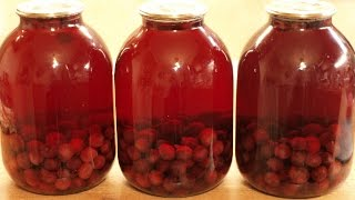 Вишнёвый компот / How to make Cherry kompot (Canned cherry sweet beverage) ♡ English subtitles