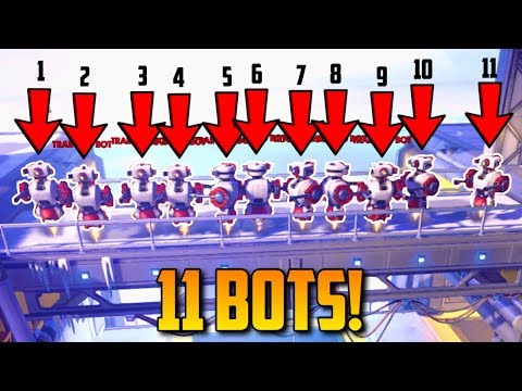 Overwatch - HOW TO SET UP 11 BOT HIGH NOON!! **amazing**