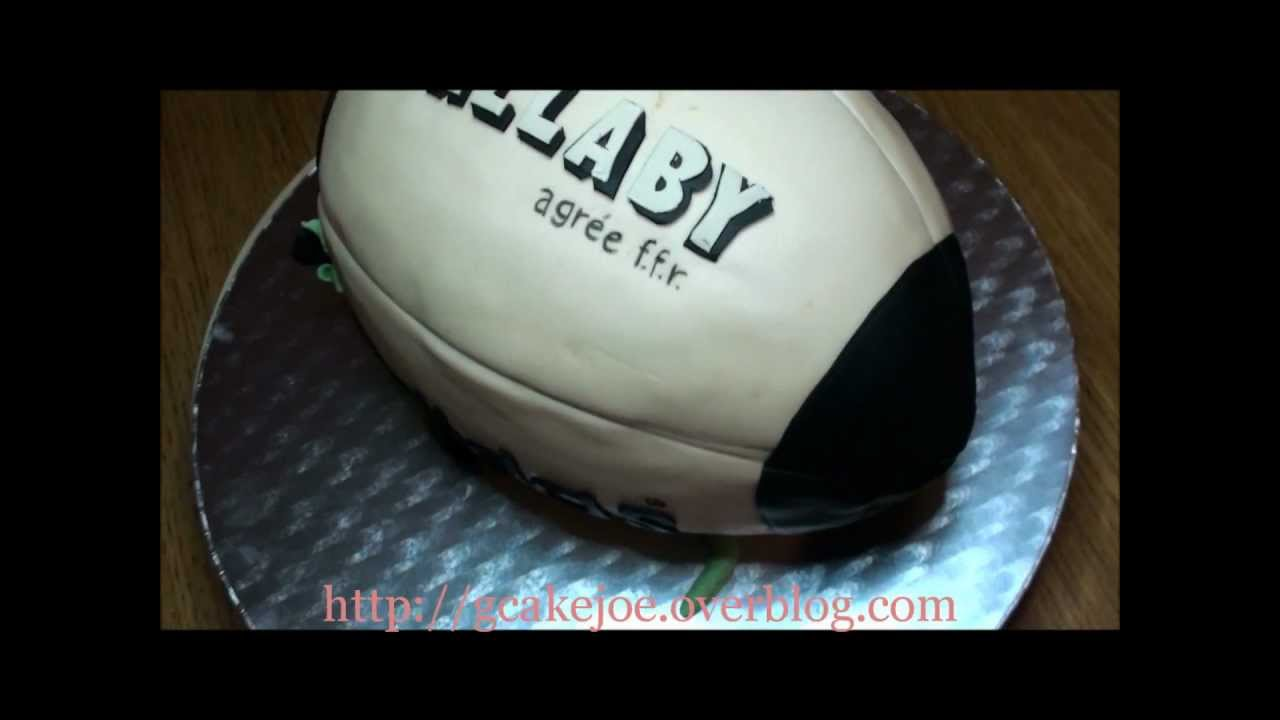 How To Make A Rugby Ball Cake Youtube