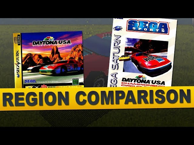 Daytona USA: Championship Circuit Edition for Sega Saturn (Region Comparison)