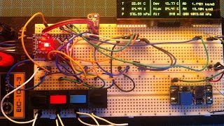 Arduino based portable altimeter & weather station with large OLED