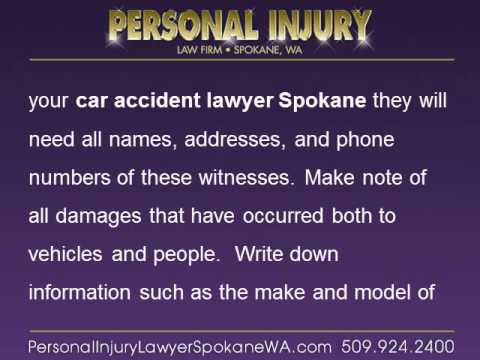 Car Accident Lawyer Spokane's Step-by-Step Instructions on Protecting Yourself
