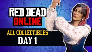 Red Dead Online - All Collectibles Day 1 [$4000+, 30000+ XP in One Day]
