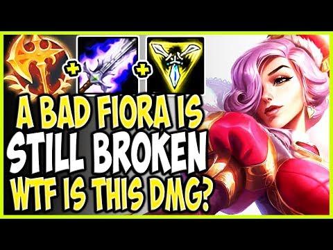 EVEN A BAD FIORA IS STILL BROKEN! WTF IS THIS DMG? TOP Heartpiercer Fiora vs Garen Season 9 Gameplay