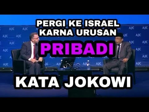 JOKOWI || SOAL KH. YCS PERGI KE ISRAEL DI ACARA YAHUDI AJC 2018